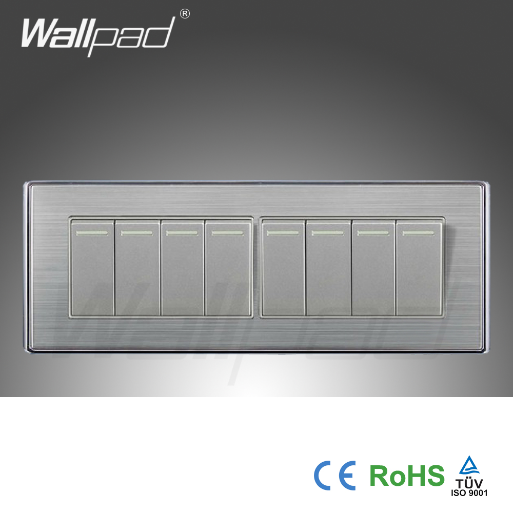 Wall Light Switches Us : 2015 Hot Sale China Manufacturer Wallpad Luxury Wall light Switch Satin Metal Panel Push Button ...