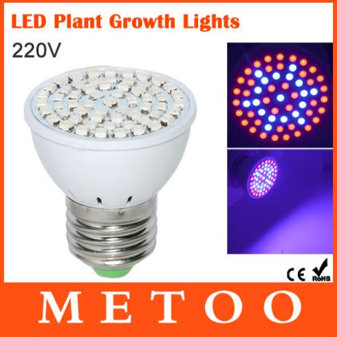 led grow light e27 Picture - More Detailed Picture about Full ...:Full Spectrum Led Grow Light E27 5W 220V Bulb Lamp 61Leds 42 Red 19 Blue  for ...,Lighting