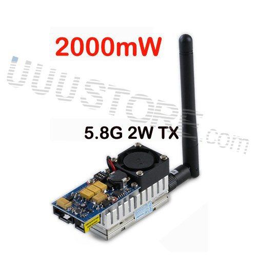 Boscam 5.8GHz 2000mw 5.8G 2W 8 Channel Wireless Audio Video Transmitter Sender FPV DJI phantom Gopro hero4 SJ4000(China (Mainland))