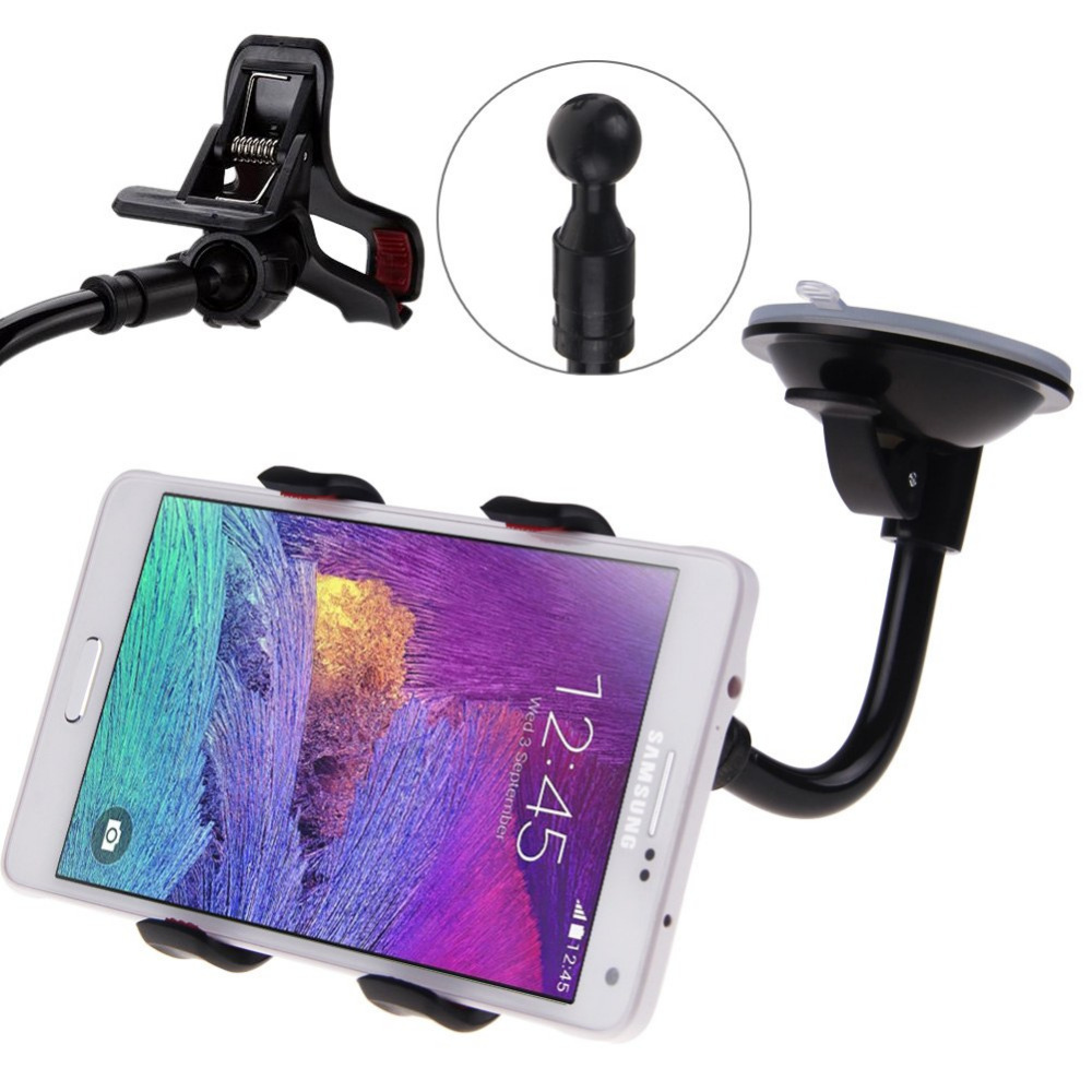 Universal 360 Degree Rotation Suction Cup Car Windshield Mobile Phone Holder Bracket Mount for Iphone PSP GPS Mount(China (Mainland))