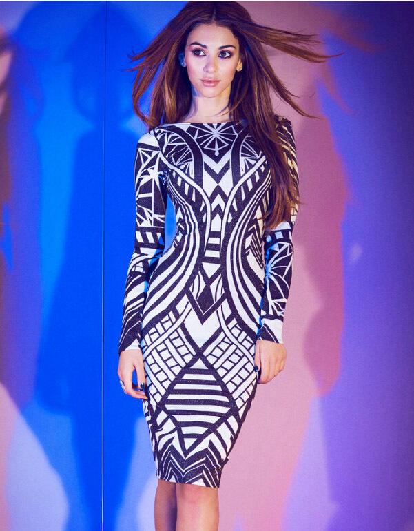 Free shipping Hot Women's summer clothing design girl dresses, tops sexy hip pack anchor stripe bandage dress Printed long-sleev(China (Mainland))