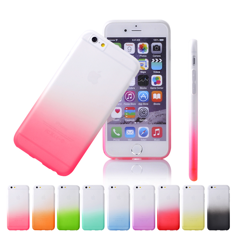 4.7 inch iPhone 6 Case Ultra Thin Slim Transparent Gradient Color Apple TPU Hard Cover 1 Piece - YPC Store store