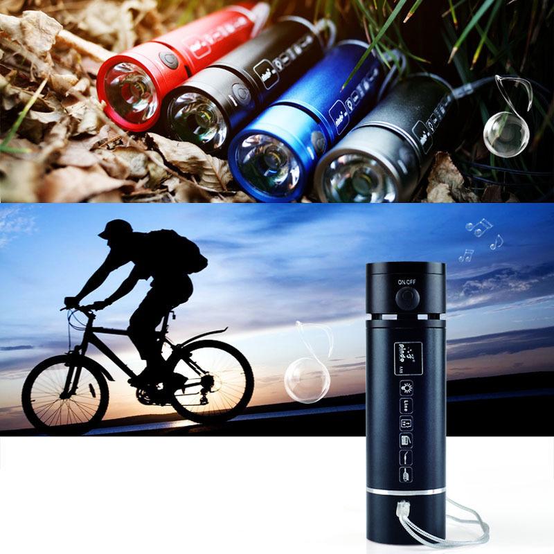 Multifunctional Mini Flashlight Speaker & Bicycle/Bike Light & Sport Speakers & MP3 Player & FM Radio+Bike Holder(China (Mainland))