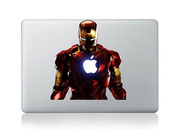 Laptop Sticker 11 13 15 17 inch The Avengers Iron Man Vinyl For Macbook Air Sticker PVC Decal Cover Sticker For Macbook Sticker(China (Mainland))