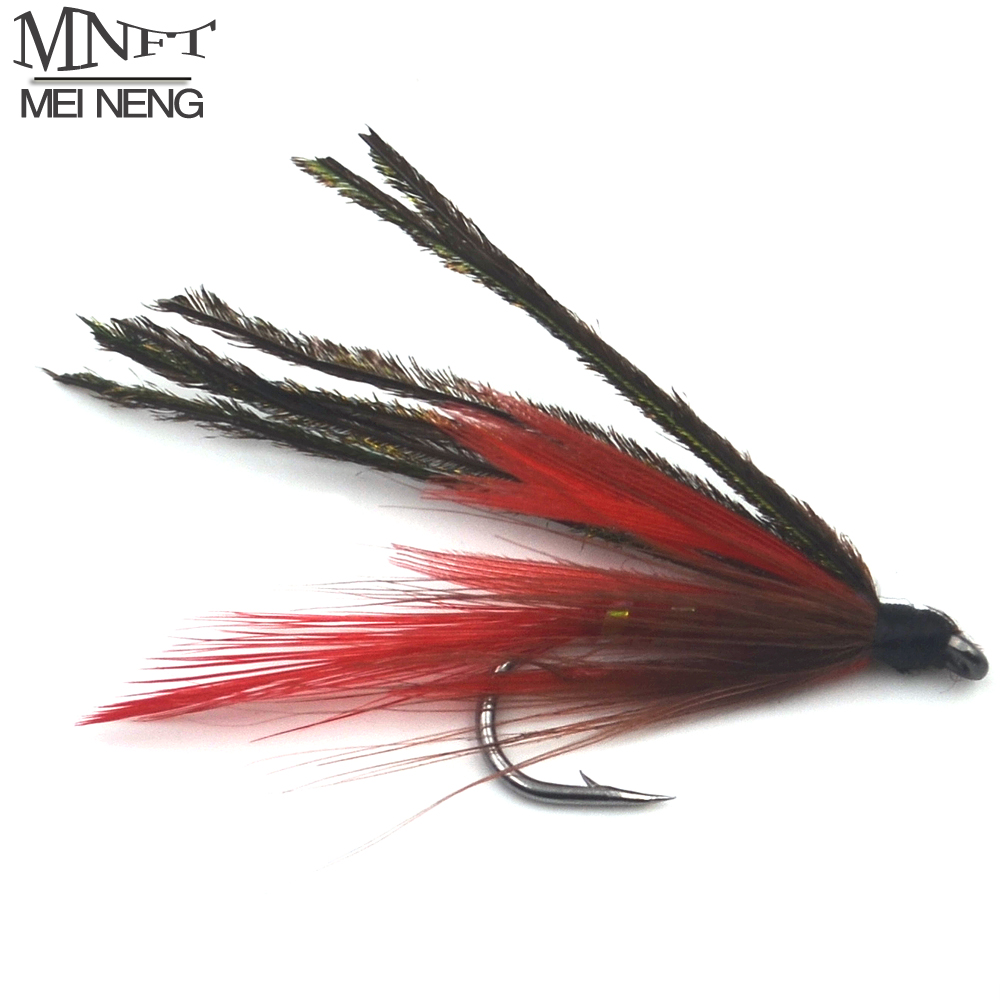 MNFT 10PCS 7 # Red Peacock Demon Herl Streamer Fly Trout Flies Fly Fishing(China (Mainland))