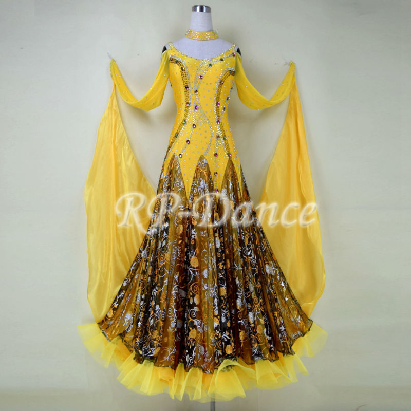 Здесь можно купить  Free Shipping 2014 Newest International Standard Ballroom Dance Competition Dress,Smooth competition Dress, Tango Dance Dress  Одежда и аксессуары