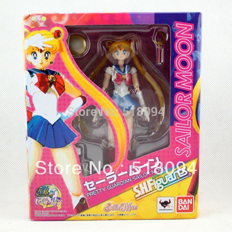 "Здесь можно купить  5pcs/lot Free Shipping Pretty Guardian Sailor Moon 20th Anniversary Simple Style & Hero 15cm/6"" Action Figure New in Box SAFG005  Игрушки и Хобби"