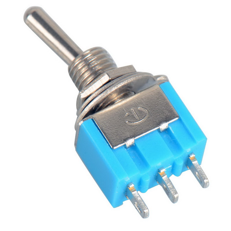 10pc/Lot Blue Mini MTS-102 3-Pin SPDT ON-ON 6A 125VAC Miniature Toggle Switches VE067 P40(China (Mainland))