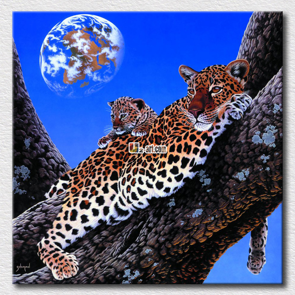 Lazy tiger oil paintings faraway dream pictures on the office room high quality arts gift for friends(China (Mainland))
