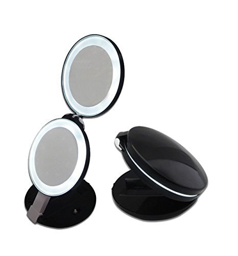 up mirror gotofine led lighted travel makeup mirror double sided pact  folding cosmetic magnifies 10x on. 10x Fold Away Lighted Travel Makeup Mirror D111a   Mugeek Vidalondon