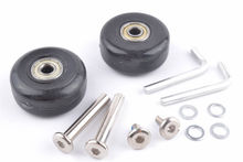 2 Set Luggage Suitcase Replacement Wheels Axles Deluxe Repair OD 40mm #8(China (Mainland))