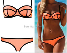Ebay hot selling New Summer 2015 Fashion Swimsuit Push Up Triangle Bikini set Swimwears Women s