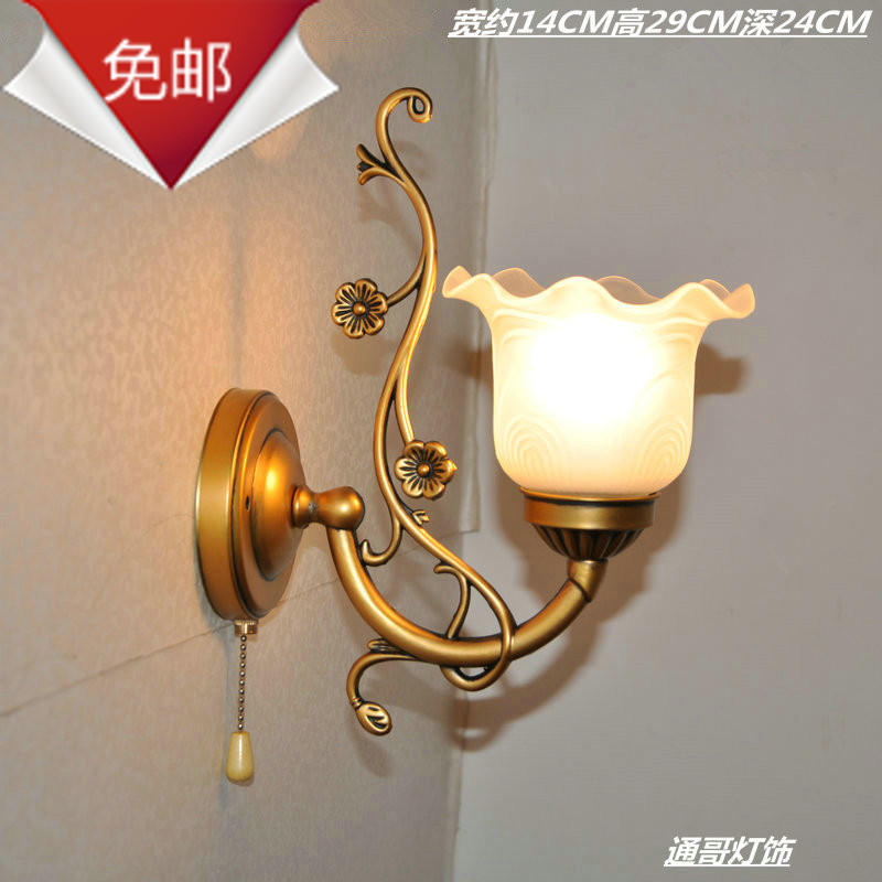 Wall lamp fashion antique lamps bedroom bedside lamp mirror light stair corridor wall lamp belt pullswitch<br><br>Aliexpress