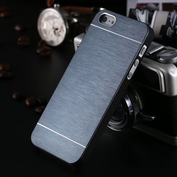 New Deluxe Aluminum Back Cover For iphone 5 5S Mobile Phone Metal Brush Slim Simple With Logo Cool Hard Back Case For iphone5 5s(China (Mainland))