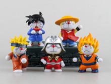 Doraemon Action Figures Japanese Anime Figures Luffy Naruto Dragon Ball One Piece 12cm Hot Toys Pvc Cartoon Figure Free Shipping