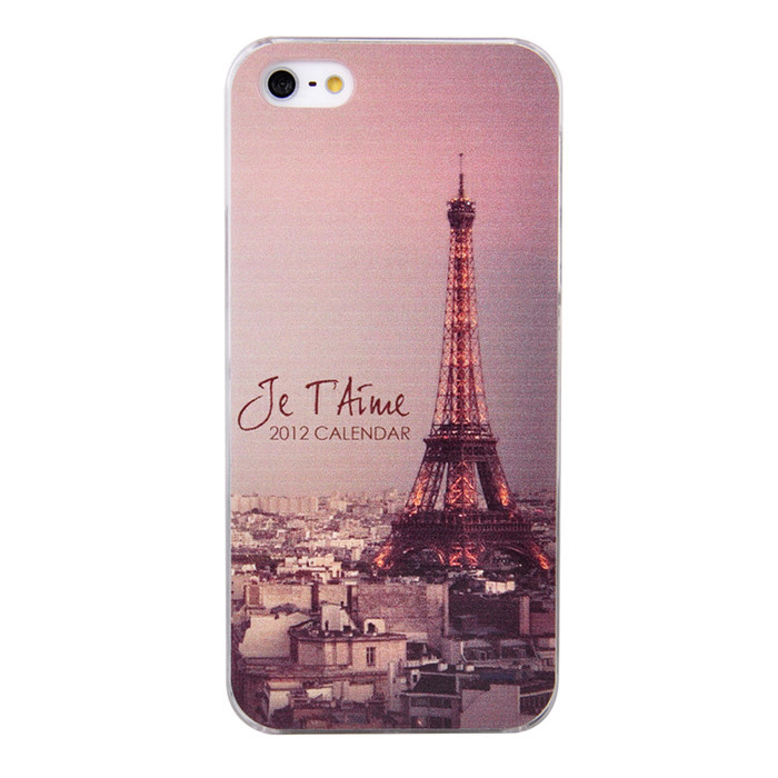 Famous buildings Pattern Eiffel Tower Design Phone Cases for iPhone 5 case Hard Back Cover for iPhone 5 5S 5G Free Shipping(China (Mainland))