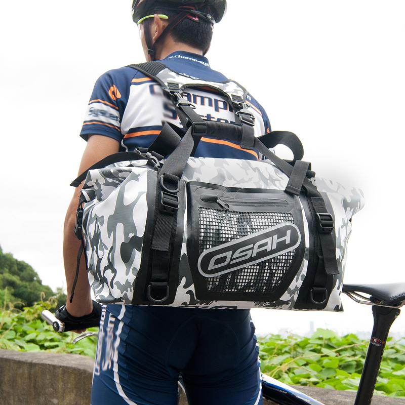 Фотография OSAH brand Outdoor Sport IPX 6 Real waterproof bag Camping Hiking backpack 35L Climbing Bag Travel handbag Bicycle saddle bag