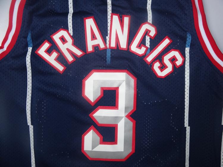 Cheap Men's #3 Steve Francis Jersey Blue Stripe Wholesale Stitched Steve Francis Basketball Jerseys Free Shipping(China (Mainland))