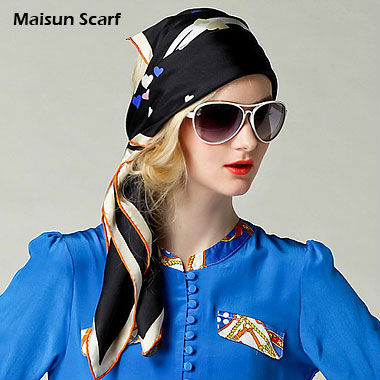Hand rolled 100% silk twill scarves 90 x 90cm 14mm fashion style square scarves(China (Mainland))
