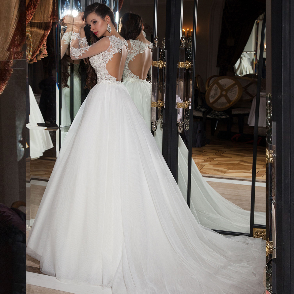 Turmec lace long sleeve corset wedding dress for Lace back long sleeve wedding dress