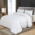 Luxury Duvet Cover Set White Black Pinch Pleat 2 3pcs Twin Queen King Bedding Sets No