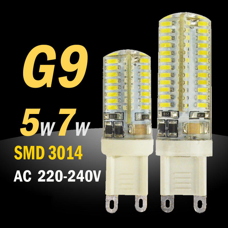 10pcs G9 LED 220V Bulb Light Super Bright SMD 3014 Mini Corn Light Replace 30W 50W Halogen Bulb Crystal Lamp Silicone Candle(China (Mainland))