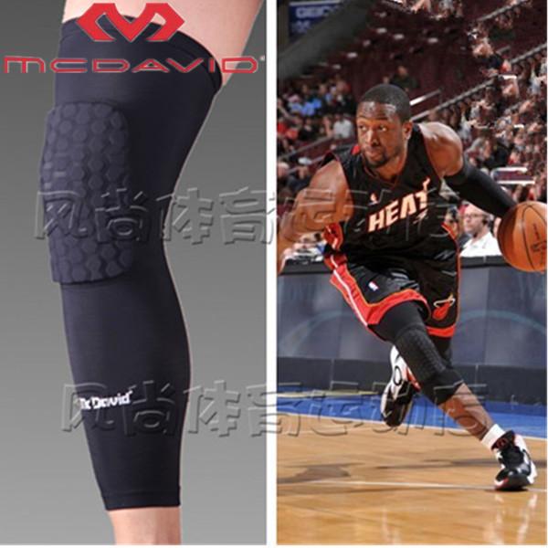 50High Quality Mcdavid Breathable Basketball Football Sports Kneepad Shank Honeycomb Knee Pad Bumper Tight Protective Kneelet(China (Mainland))