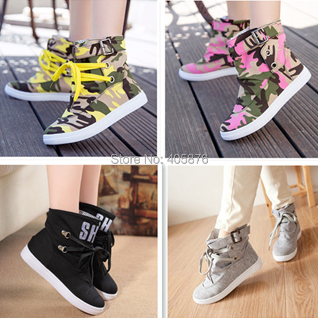 New 2015 spring and summer casual ankle boots fashion lacing canvas shoes for women 18 color plus size 36-40(China (Mainland))