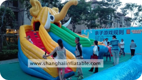 Elephant Water Slide Inflatable Park Games(China (Mainland))