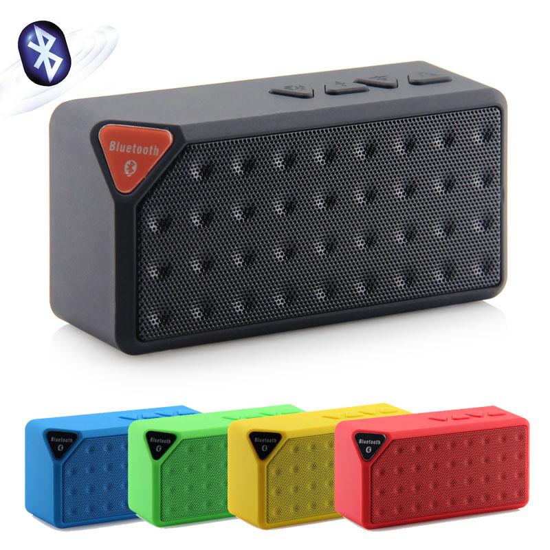 MINI Bluetooth Speaker X3 TF USB FM Wireless Portable Music Sound Box Subwoofer Loudspeakers with Mic E32 HOT NEW(China (Mainland))