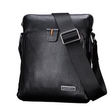 100% Genuine Leather men bags Business Fashion Men Messenger bag brand designer crossbody men's Shoulder bag briefcase(China (Mainland))