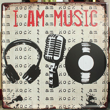 Buy am Music Vintage home decor 30*30 cm Shabby Chic Metal sign crafts bar coffee decoration Tin Signs for $13.11 in AliExpress store