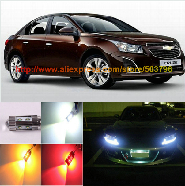 Free Shipping 2Pcs/Lot Superbright Hight Power Cree 50w 12v Car Led Parking Light For Chevrolet Cruze 2011-2013 Aveo 2004-2011