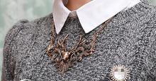 2014 Fashion Vintage Choker Women Jewelry Antique Gold Silver Elk deer Necklaces Pendants Statement Necklace Collier
