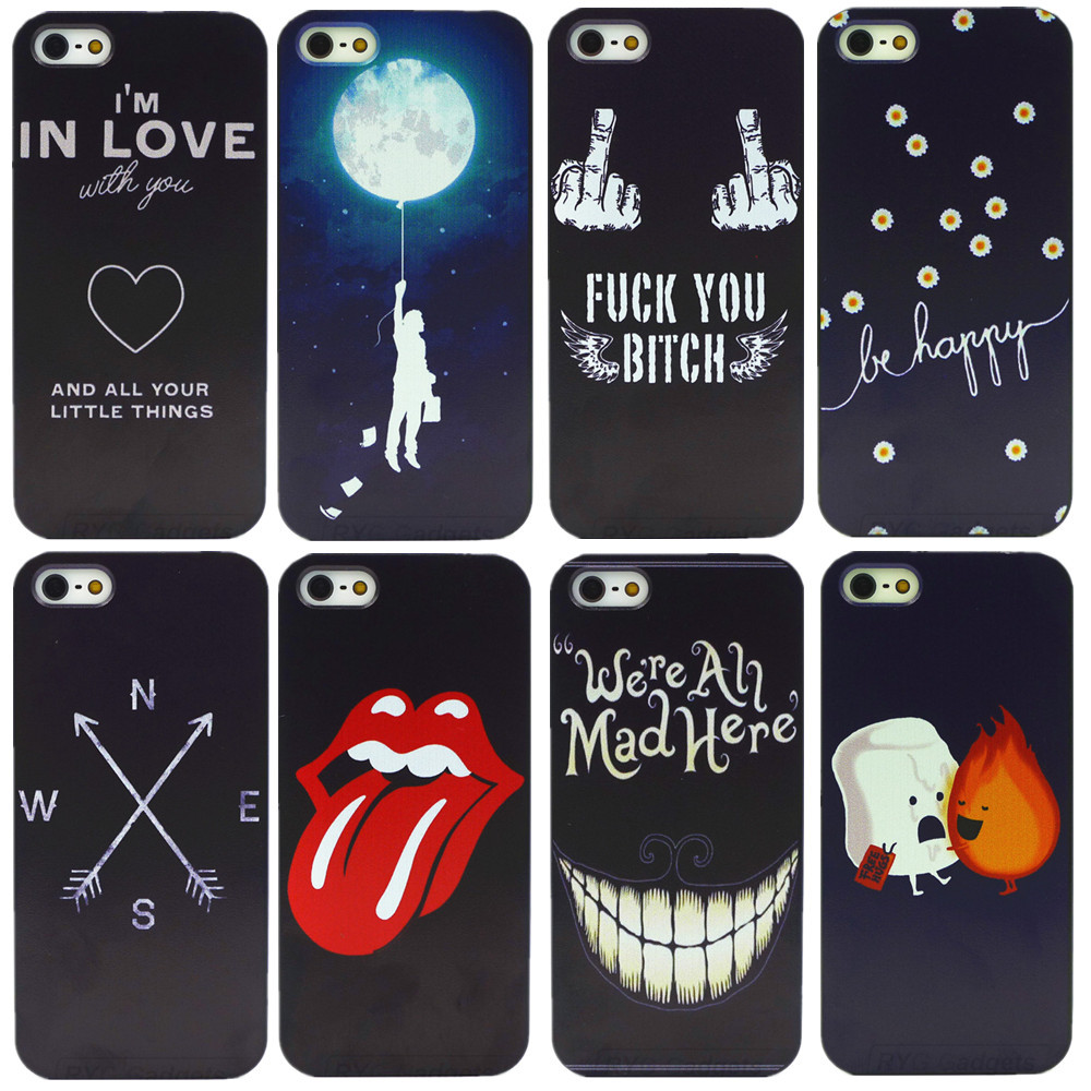 Fashion Cool Style Luxury 4 5s Case for Apple Plastic Hard Back Cover for iPhone 4 4S 5 5S Best Gifts(China (Mainland))