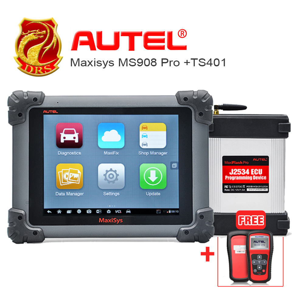 [AUTEL Distributor] Original AUTEL MaxiSYS MS908 Pro Autel MS908P Wifi Car Scanner MaxiTPMS TS401 TPMS diagnostic & service tool(China (Mainland))