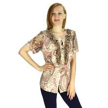 BFDADI Летом модная женская для работы и офиса женская рубашка печать блузка с коротким рукавом элегантные рубашки свободного покроя свободные Большой размер топы 2140-1(China (Mainland))