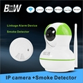 CCTV Camera Infrared Smoke Detector Home Alarm System Night Vision IP Camera Burglar Security Video Surveillance