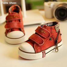 2015 printemps et automne nouvelle baskets en toile pour enfants fille garçon chaussures de toile cowboy haute chaussures montantes bébé bébé(China (Mainland))
