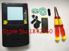 New Clear Black Color Game For Poke.mon Limited Edition Housing Case For GBC Gameboy Color Shell Replacement Parts(China (Mainland))