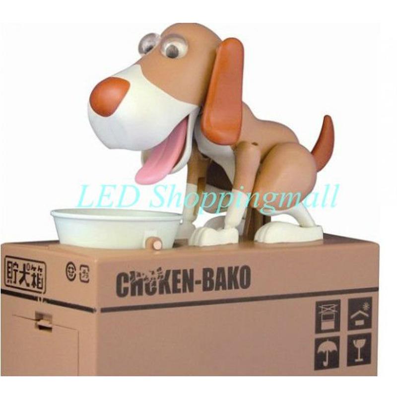 Free Shipping Dog Steal Coin Bank Dog Piggy Bank Plastic