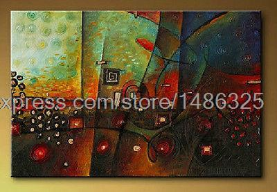 Decorative Hand Painted Abstract Oil Painting Canvas Color Wall Art Master Bedroom Decor