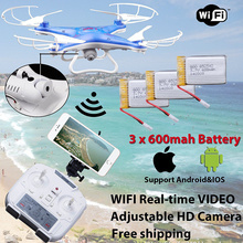 D97 6-Axis Gyro 2.4G 4CH Real-time Images Return RC FPV Quadcopter Drone Wifi with HD Camera One-press Return