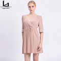 Hui Lin Casual Women Autumn Dress Half Sleeve New Fashion Hot Sale Elegant Style Ladies Dress
