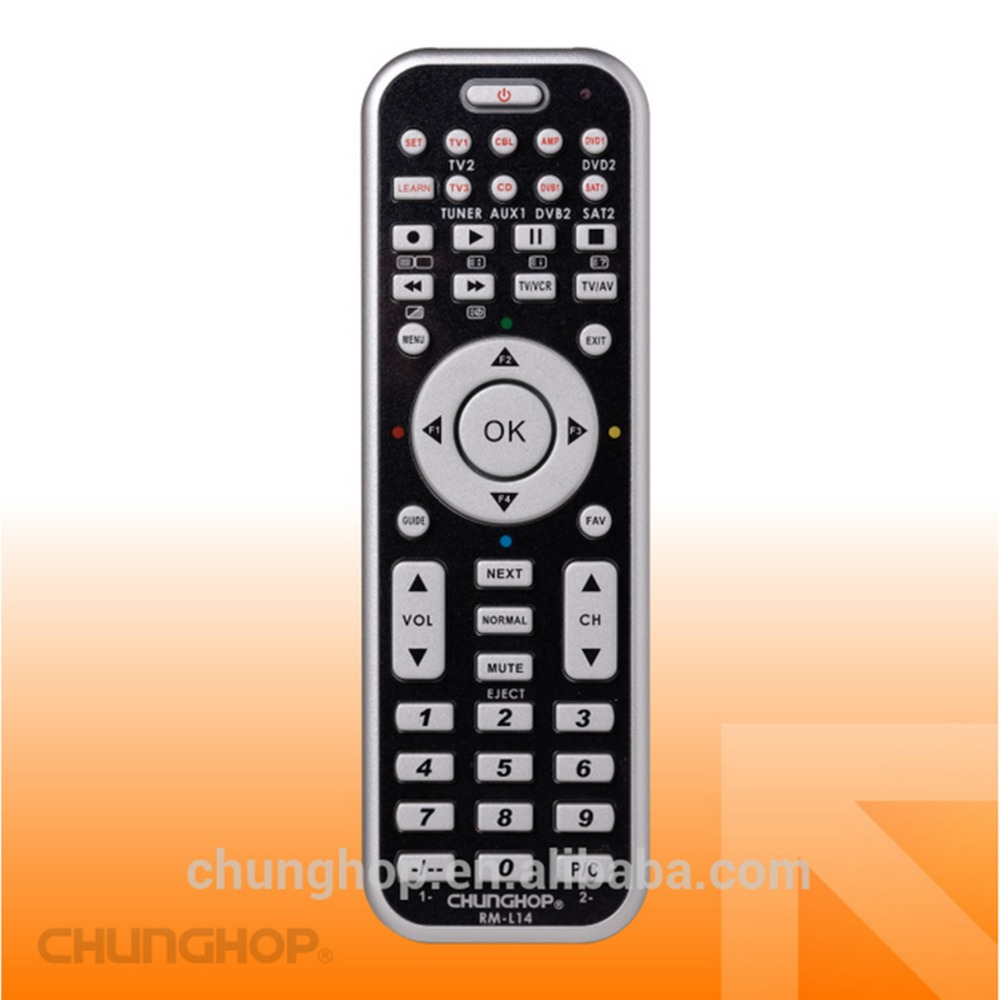 L14 Free Shipping 8in1 Universal Smart Remote Control With Learn Function For TV CBL DVD SAT DVB CONTROLLER(China (Mainland))