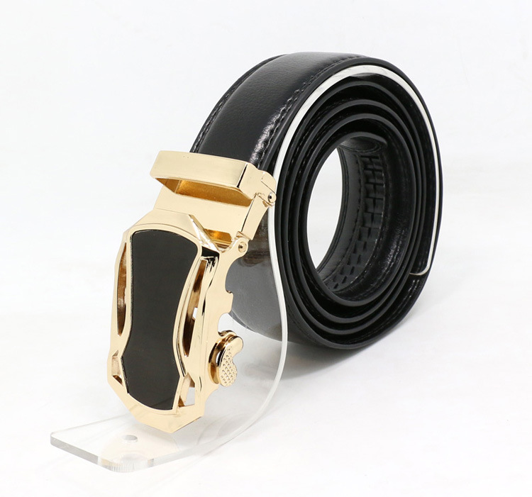 The new gold belt buckle head men's leather belt automatic buckle belt suit European and American fashion of the belt(China (Mainland))