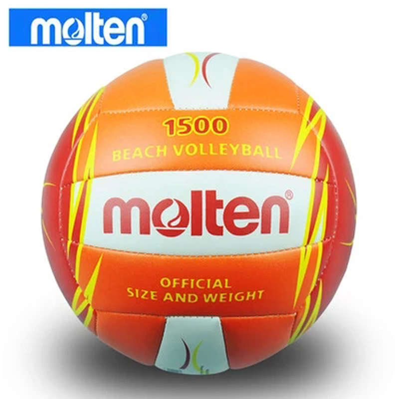 2015 free shipping new brand Molten V5B1500-CO PU volleyball beach volleyball ball 5#, free with gas nozzle and needle(China (Mainland))