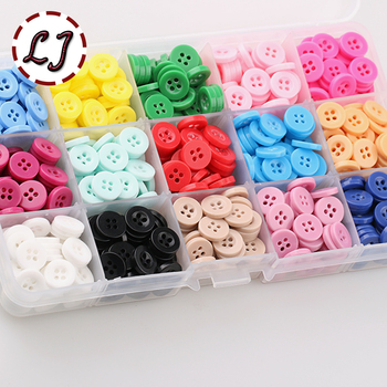 "New 100pcs/lot small Resin Button Round Four Holes 10mm( 2/5"") sew on ory scrapbooking for child cloth Candy colorsDIY access"