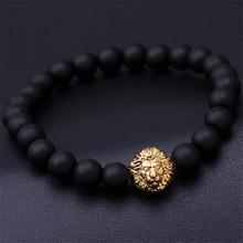 2016 bead Charm bracelet buddha bracelets paracord natural stone lion bracelet men pulseras hombre bracciali uomo mens bracelets(China (Mainland))