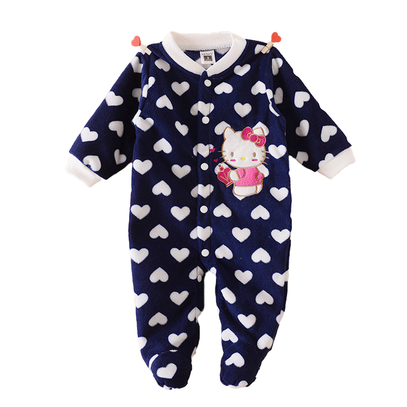 Hello Kitty Baby Rompers Fleece Carters Boy Girl Roupa Infantil Autumn Clothing Body Bebe Newborn Baby Overalls Body For Clothes<br><br>Aliexpress